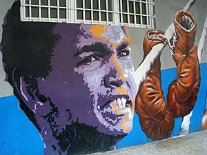 Professional boxing - Graffiti of Muhammad Ali