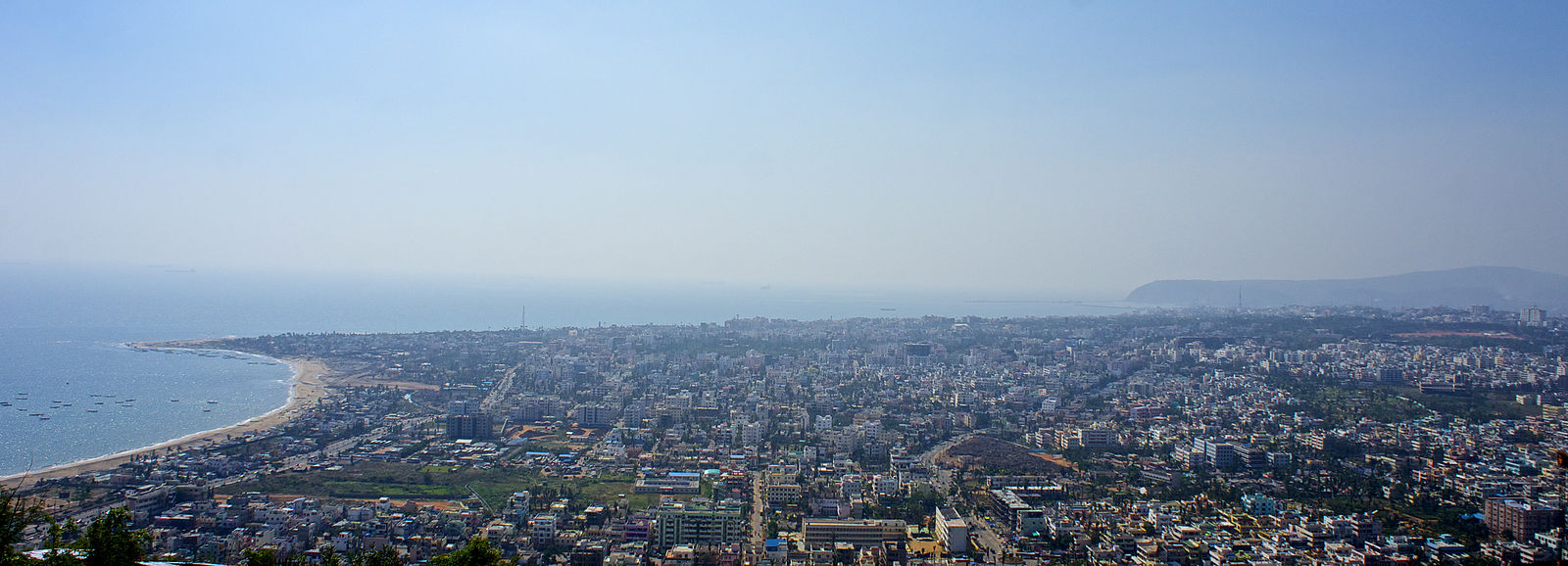 Visakhapatnam is the most populous city in Andhra Pradesh, and the 14th-largest city in India. Vizag View from Kailasagiri.jpg