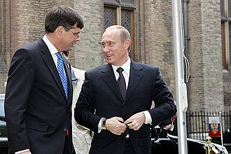 Jan Peter Balkenende - Jan Peter Balkenende and President of Russia Vladimir Putin in 2004.