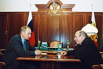 Natan Sharansky - Sharansky and Vladimir Putin in the Kremlin, 19 September 2000