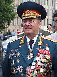 Vladislav Achalov at the Airborne Troops Day in Moscow – August 2, 2008.jpg