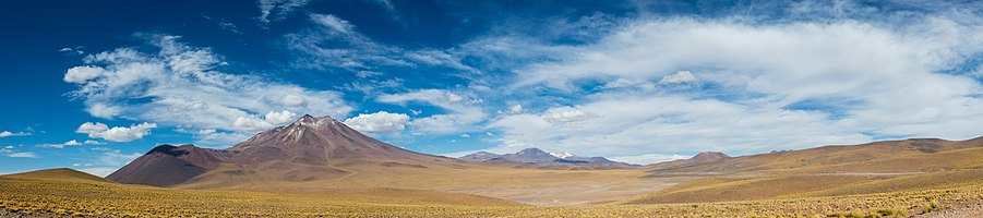 Volcanic landscape in Atacama, Northern Chile.
