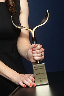 Writers Guild of America Awards award for film, television, radio and video game writing