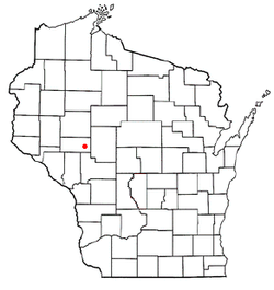 Location of Bridge Creek, Wisconsin