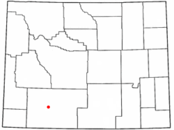 Location of Reliance, Wyoming