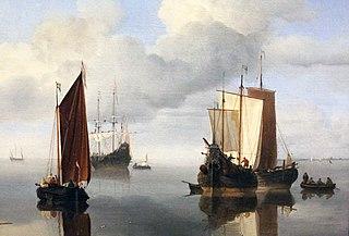 Calm: Fishing Boats under Sail