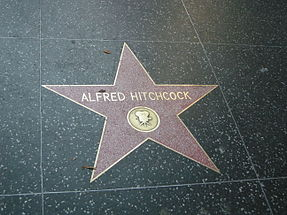 Alfred Hitchcock's star on the Walk of Fame at 6506 Hollywood Blvd. in Hollywood, California, USA.