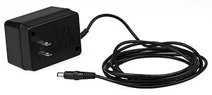 "Adapter - A ""power cube"" type AC adapter"