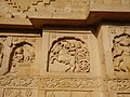 Wall carving on buildings of the Gond Raja's Tomb.jpg