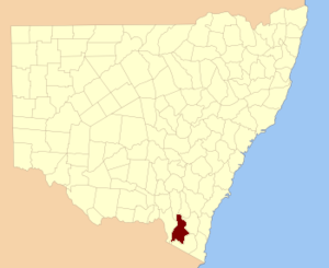 Wallace County, New South Wales - Location in New South Wales