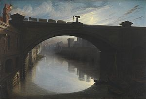Waller Hugh Paton - Image: Waller Hugh Paton Railway Bridge over the River Cart, Paisley Google Art Project