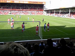 Walsall F.C. - Walsall (in red shirts) playing Gillingham in 2009