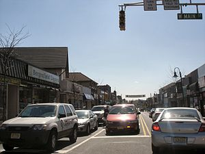Bergenfield, New Jersey - Bergenfield's main road, Washington Avenue