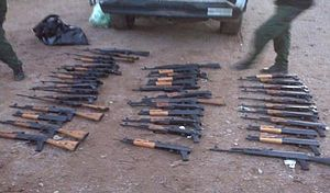 ATF gunwalking scandal - Image: Weapons Siezed Tohono Oodham Reservation 20Feb 2010