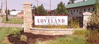 Loveland, Ohio - Loveland's main welcome sign