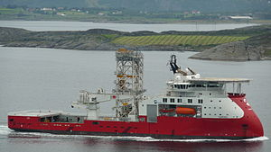 Well intervention - Well intervention vessel Skandi Constructor (former Sarah) with X-bow.