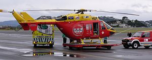 Wellington Westpac Rescue Helicopter and Wellington Free Ambulance Patient Transfer Vehicle - Flickr - 111 Emergency.jpg