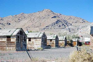 Wendover Air Force Base - Abandoned World War II housing units at Wendover Army Air Field