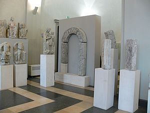 Wessobrunn Abbey - Fragments of medieval sculpture from the former abbey church, now in the Bavarian National Museum