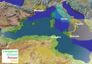 The west Mediterranean in 509 BC.