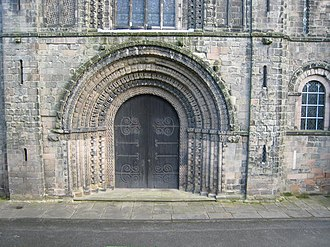 St Mary's Church, Tutbury - Image: West doorway, Tutbury Church geograph.org.uk 1223992