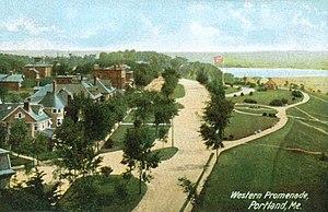 Bramhall Hill - A postcard of the Western Promenade circa 1908.