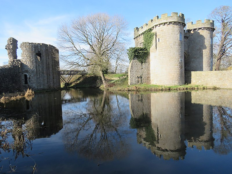 Whittington lake and castle, Shropshire