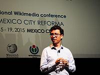 Wikimanía 2015 - Day 4 - Luis von Ahn conference - LMM (5).jpg