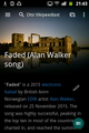 Wikipedia App 2.0.111 Faded (Alan Walker song) article on 7 August 2016.png
