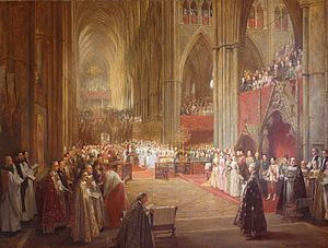 Golden Jubilee of Queen Victoria - Queen Victoria's Golden Jubilee Service, Westminster Abbey, 21 June 1887 (1887–1890) by William Ewart Lockhart