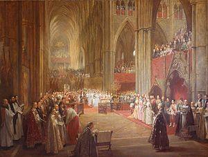 Golden Jubilee of Queen Victoria - Queen Victoria's Golden Jubilee Service, Westminster Abbey, 21 June 1887 (1887–1890) by William Ewart Lockhart