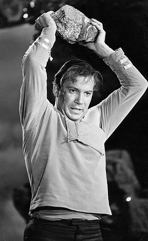 "Star Trek: The Original Series - William Shatner as Kirk in action, from the episode ""Where No Man Has Gone Before"", 1966"