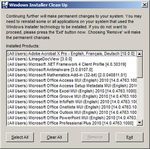Windows Installer Clean Up Application, v3.0, September 2006.png