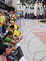 Wired barricade at the Bersih 3.0 rally.jpg