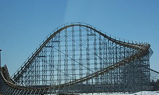 Hades 360 roller coaster located at Mt. Olympus Water & Theme Park in Wisconsin Dells, Wisconsin