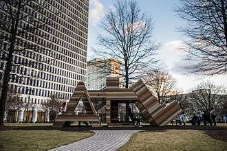 "Parks in Atlanta - Playground spelling ""ATL"" in Woodruff Park"