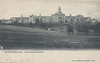 Frank W. Weston - The Asylum pictured on a postcard dated 1905