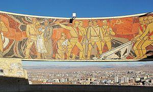 Zaisan Memorial - The mural of Zaisan Memorial