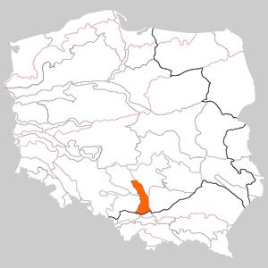 Kraków-Częstochowa Upland - Location of the Polish Jura