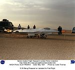 X-36 Being Prepared on Lakebed for First Flight DVIDS708016.jpg