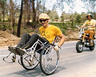 Tony South - Tony South pushed 50km on his back wheels in 1975 to raise funds for the Australian Paraplegic Games.