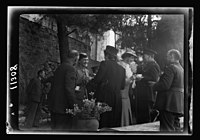 Y.M.C.A. Hostel in J'lem. (i.e., Jerusalem) for the men of H.M. Forces. Garden tea after opening LOC matpc.20573.jpg