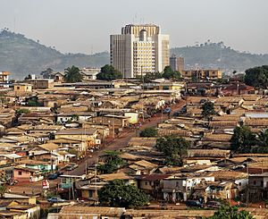 Bank of Central African States - The Bank of Central African States with surrounding area.