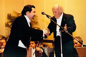 Béla Mavrák - Yehudi Menuhin and Béla Mavrák (left)
