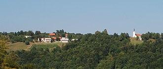 Zaloka - The village of Zaloka, with St. Agnes's Church