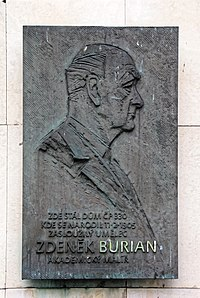 Zdenek Burian memorial plaque.jpg