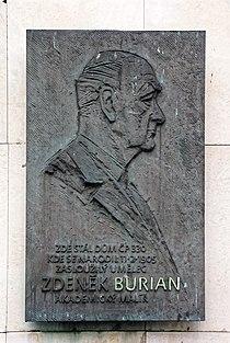 Zdenek Burian memorial plaque.jpg
