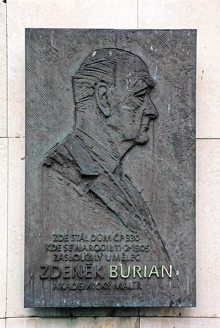 File:Zdenek Burian memorial plaque.jpg