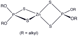 Compounds of zinc - Structure of a monomeric zinc dialkyldithiophosphate