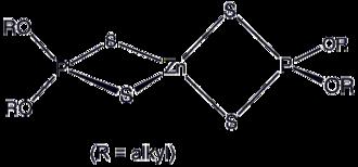Thiophosphate - Image: Zn(dtp)2